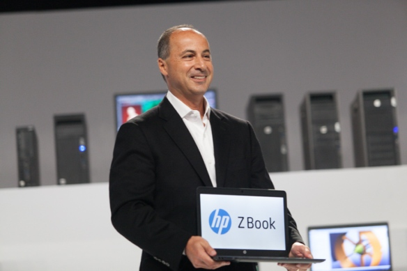 HP's Jim Zafarana shown here with the new Zbook