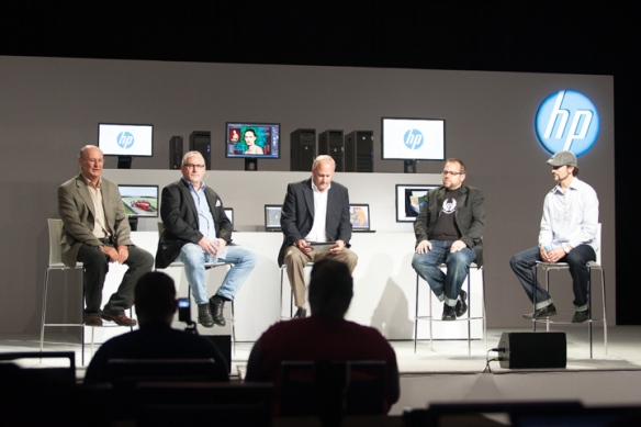 HP Technology Panel  (L to R) Ron Rogers, Gary Adcock,  Jeff Wood,. Vincent Brisebois , Ryan Brown
